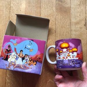 Vtg NIB Mint Walt Disney ALADDIN 1996 Ceramic Mug